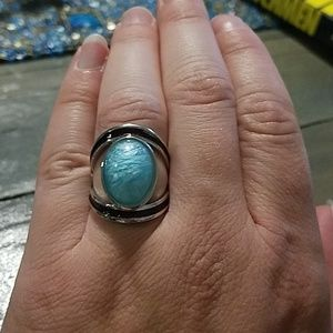 NWT size 9 women's ring with blue stone